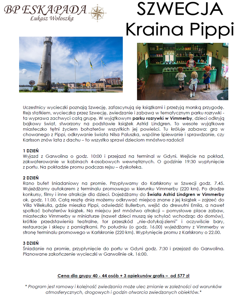 Szwecja Kraina Pippi